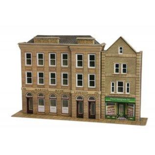 Metcalfe Metcalfe PO271 Bank & shop (H0/OO gauge)