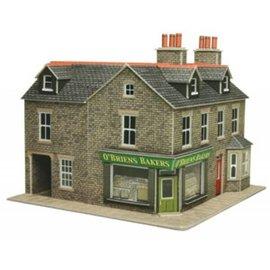Metcalfe Metcalfe PO264 Wijkwinkel op de hoek in grijze steen (Schaal H0/00, Karton)