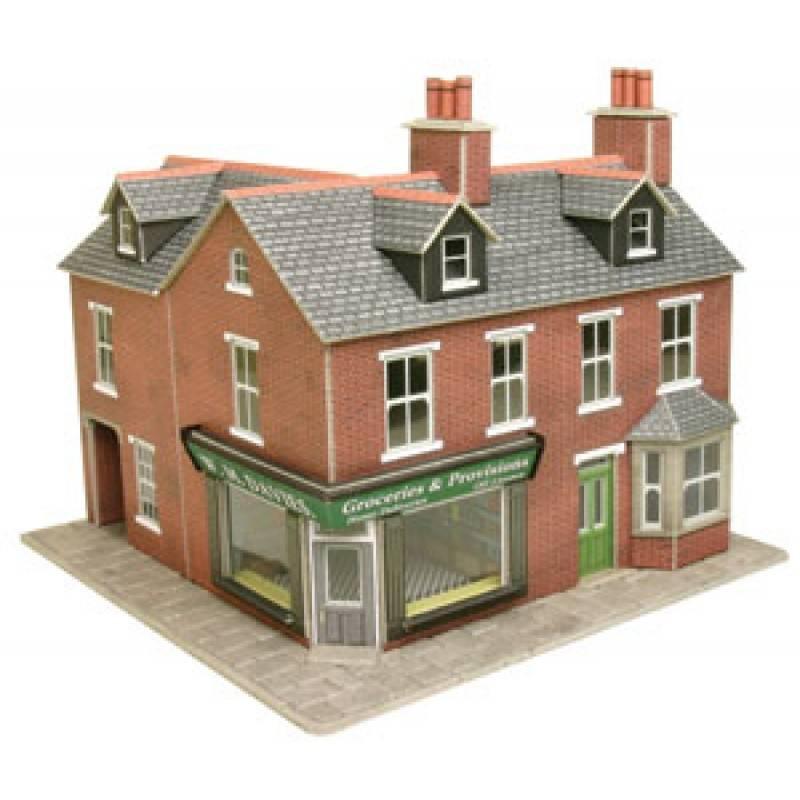 Metcalfe Po263 Red Brick Corner Shop H0oo Gauge