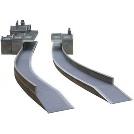 Metcalfe Metcalfe PO235 Bahnsteig aus grauem Baustein (Baugröße H0/OO)