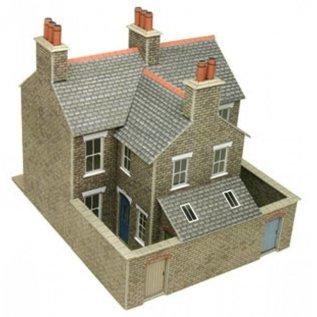 Metcalfe Metcalfe PO262 Rijtjeshuizen in grijze steen (Schaal H0/00, Karton)