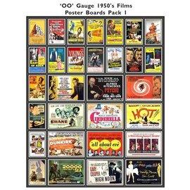 Trackside Signs Kino-Werbungsposter aus den 50ern (Serie 1) (Baugröße H0/OO)