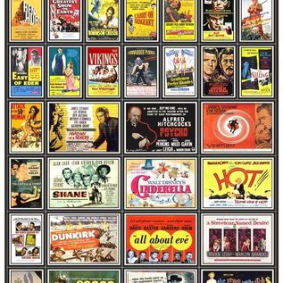 Trackside Signs Filmposters 1950's Deel 1 (Schaal H0/00, Stickers)