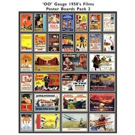 Trackside Signs Filmposters 1950 Deel 2 (Schaal H0/00, Stickers)