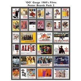 Trackside Signs Kino-Werbungsposter aus den 60ern (Serie 2) (Baugröße H0/OO)