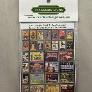 Trackside Signs Etenswaren-posters Deel 1 (Schaal H0/00, Stickers)