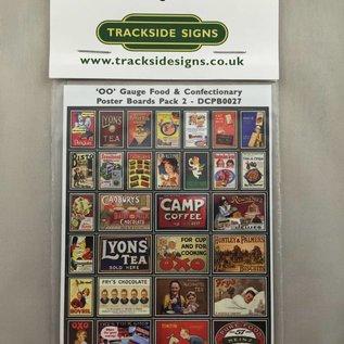 Trackside Signs Etenswaren-posters Deel 2 (Schaal H0/00, Stickers)
