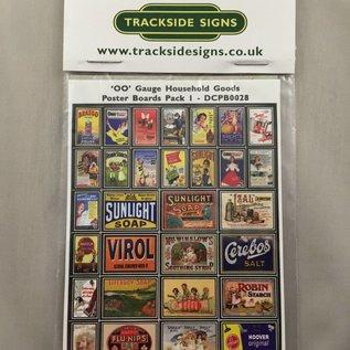 Trackside Signs Huishoudelijke-reclame-posters (Schaal H0/00, Stickers)