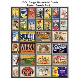 Trackside Signs Huishoudelijke-reclameposters (Schaal H0/00, Stickers)