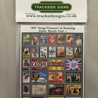 Trackside Signs Transport-Werbeposter (Baugröße H0/OO)