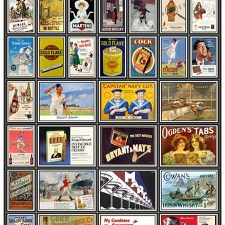Trackside Signs Tabaks- en alcoholreclame-posters (Schaal H0/00, Stickers)