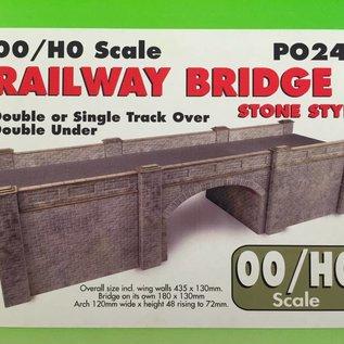 Metcalfe Metcalfe PO247 Spoorbrug in grijze steen (Schaal H0/00, Karton)