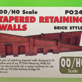 Metcalfe Metcalfe PO248 Arkadenstützmauer, steigend, in rotem Backstein (Baugröße H0/OO)