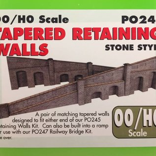 Metcalfe Metcalfe PO249 Tapered retaining wall in stone (H0/OO gauge)