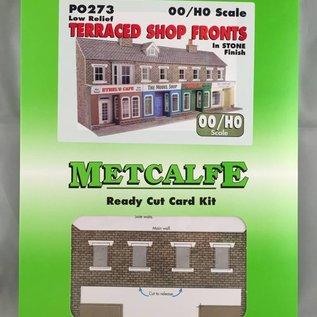 Metcalfe Metcalfe PO273 Voorzijde kleine winkels in grijze steen (Schaal H0/00, Karton)