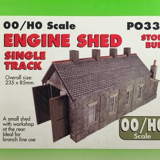 Metcalfe Metcalfe PO332 Single track engine shed stone style (H0/OO gauge)