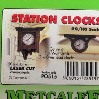 Metcalfe Metcalfe PO515 Bahnhofsuhren (Baugröße H0/OO)