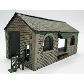 Ancorton Models Goods shed, laser cut kit, H0/OO gauge