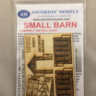 Ancorton Models Small stone barn, laser cut kit, H0/OO gauge