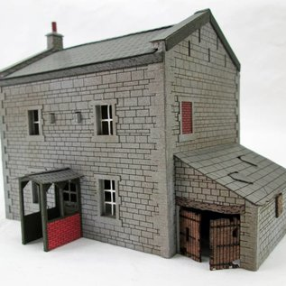 Ancorton Models Country house with porch and out-building kit, H0/OO scale