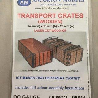 Ancorton Models Ancorton OOWC1 Transportkratten (schaal H0/00, lasercut)