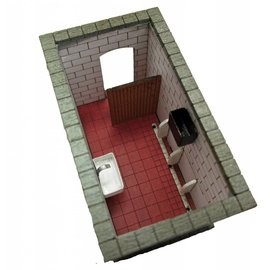 Ancorton Models Platform toilet block, (open roof), laser cut kit, OO/HO