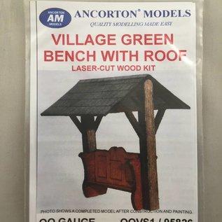 Ancorton Models OOVS1 - Overdekte bank (schaal H0/00, lasercut)