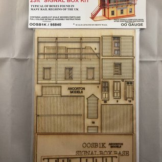 Ancorton Models Signal Box, laser cut kit, H0/OO gauge