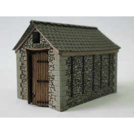 Ancorton Models Small stone barn, laser cut kit, H0/OO gauge