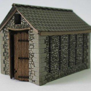 Ancorton Models Bauernscheune aus Naturstein gebaut, Spur N