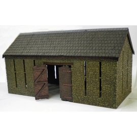 Ancorton Models Large stone barn, laser cut kit, H0/OO gauge