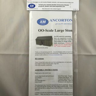 Ancorton Models Ancorton OO-RB1 Grote schuur (schaal H0/00, lasercut)