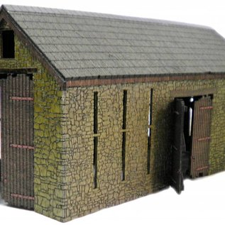 Ancorton Models Large stone barn, laser cut kit, H0/OO gauge
