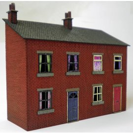 Ancorton Models Terraced houses, half relief, laser cut kit, H0/OO gauge