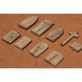 P & D Marsh Models P & D Marsh PW98 Grabsteine (Spur H0/OO)