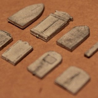 PD Marsh Grabsteine (Baugröße H0/OO, Weißmetall)