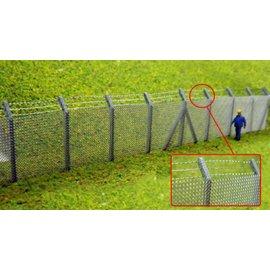 Ancorton Models Maschendraht Zaun mit Stacheldraht (Baugröße H0/OO Lasergeschnitten)
