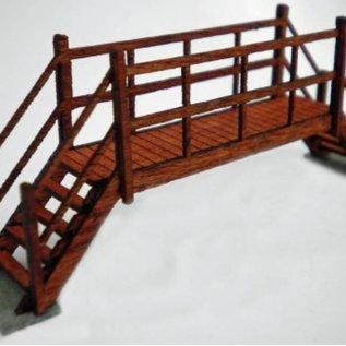 Ancorton Models Small Footbridge, laser cut kit, H0/OO gauge