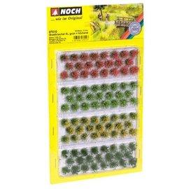 NOCH Bosjes Gras 12mm 4 kleuren