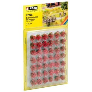 NOCH Noch 07025 Grasbüschel 12mm Blühend rot