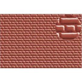 """Slater's Plastikard SL399 Selbstbauplatte roten Stein  """"English bond"""" (Kreuzverbund)"""