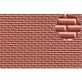 Slater's Plastikard SL401 Zelfbouwplaat rode baksteen Standaard motief, Schaal H0, Plastic