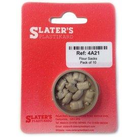 Slater's Plastikard SL4A21 10 Meelzakken, H0, Plastic