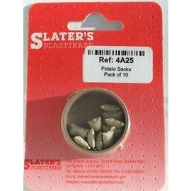 Slater's Plastikard SL4A25 10 Kartoffelsäcke , Spur H0, Plastik