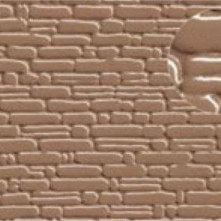 Slater's Plastikard SL419 Zelfbouwplaat natuurstenen muur, Schaal H0, Plastic