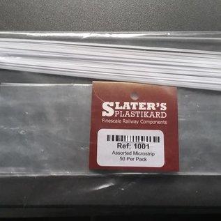 Slater's Plastikard SL1001 50 pcs Microstrip, Alle schalen, Plastic