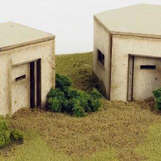 Metcalfe Metcalfe PO520 Bunkers (type WW2) (schaal H0/OO)