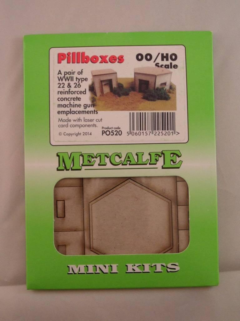 Metcalfe PO520 OO//HO Gauge Pillboxes Card Kit