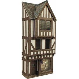 Metcalfe Metcalfe PO421 Middeleeuws vakwerkhuis met winkel in halfreliëf (schaal H0/OO)