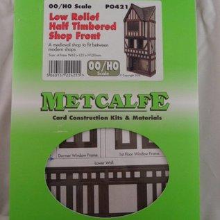 Metcalfe Metcalfe PO421 Fachwerk Stadthaus aus den Mittelälter in Halbrelief (Spur H0/OO)